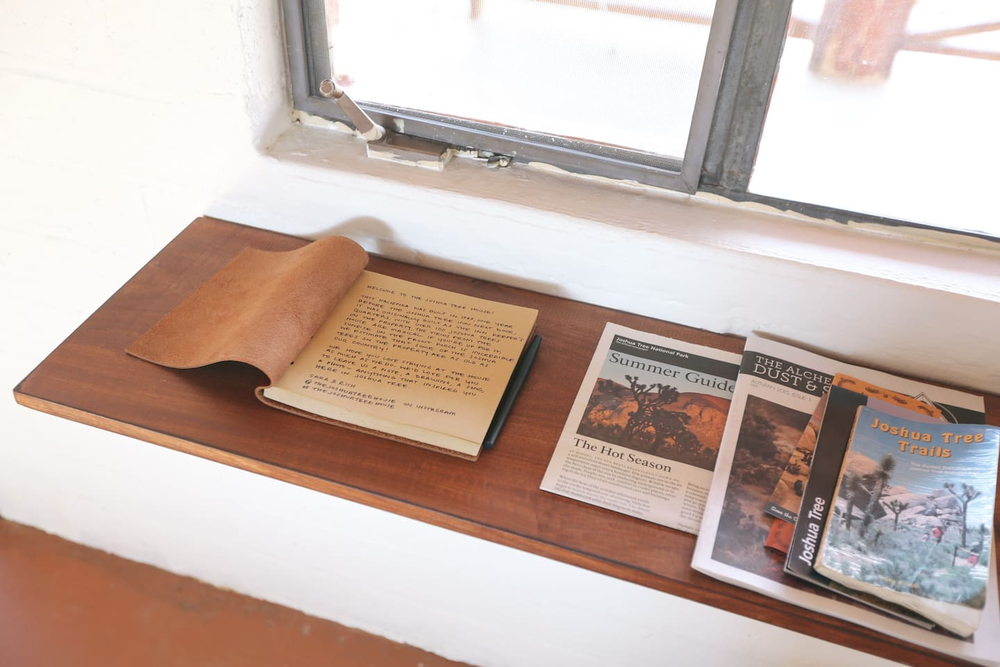 Guest Book and local Joshua Tree information