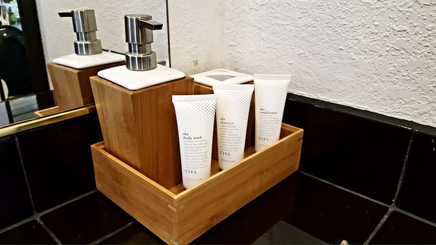 We have all the toiletries you need...