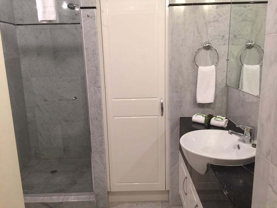 marble finished bathroom