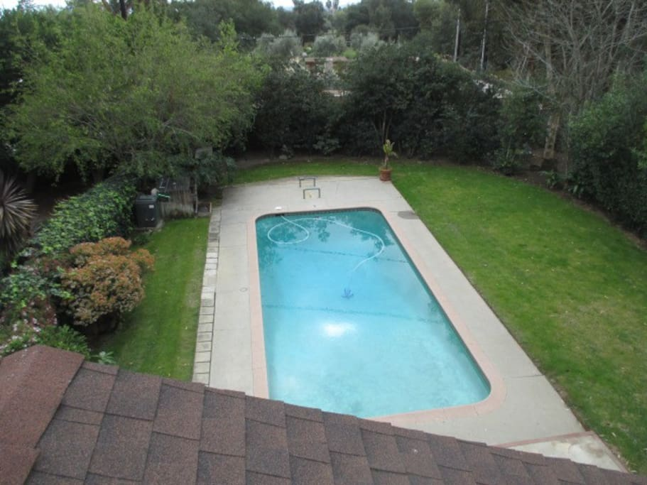 heated pool, 可以加热的游泳池
