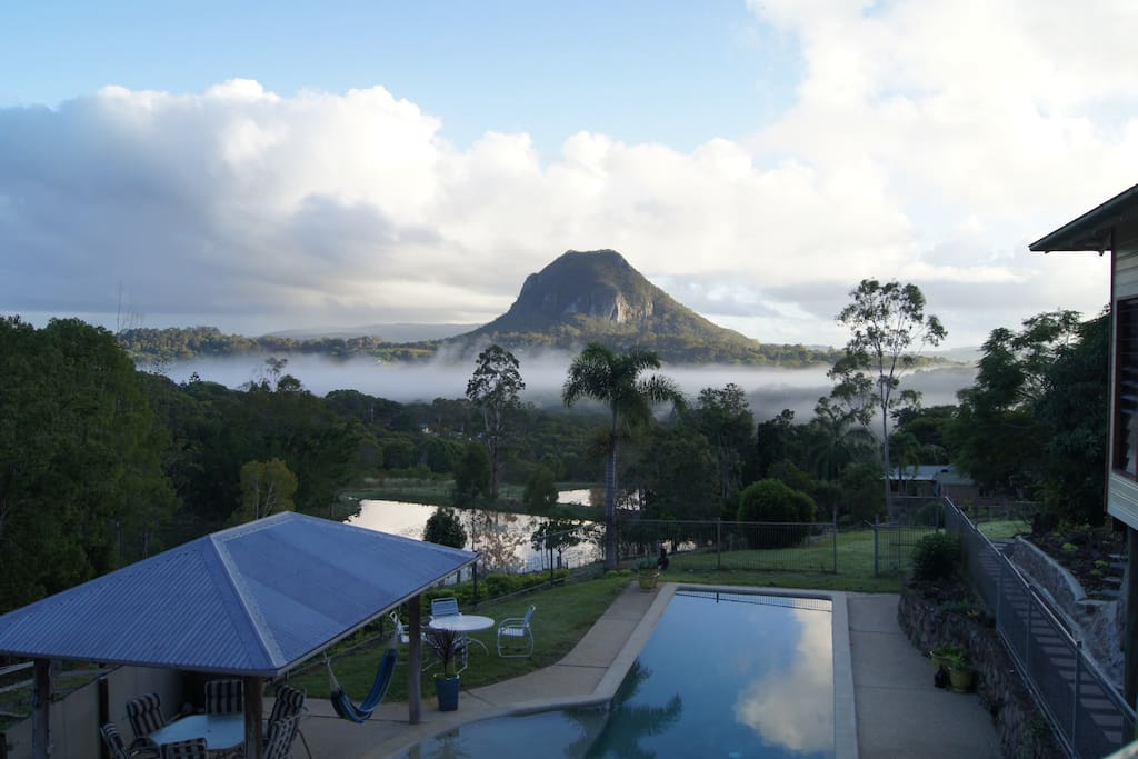 The ever changing view of Mt Cooroora from the deck.