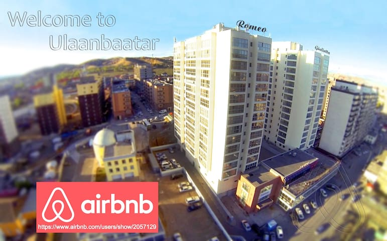 Aerial view of the apartment.