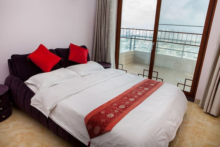 大东海离海100米温馨豪华海景3房1A-3306 - 三亚市 - Appartement