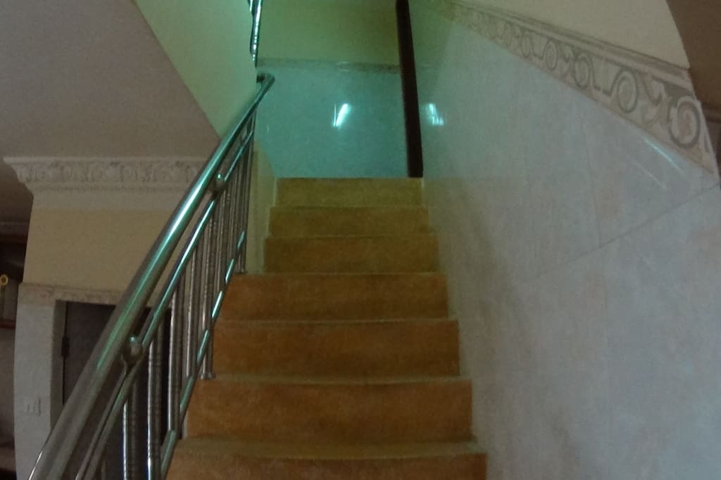 Stair lead up to your private room