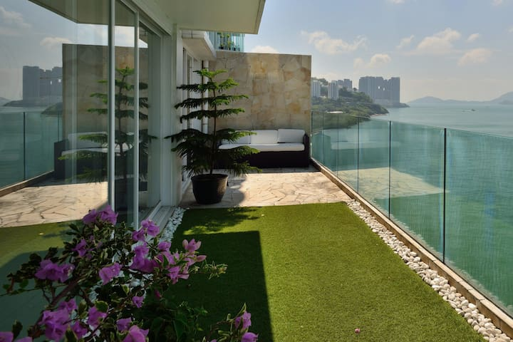 Huge sea view flat with terrace - Hong Kong - Apartment