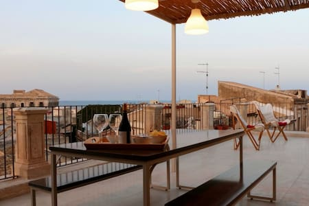 Apollo Suite: terrace over view centre Ortigia - Syracuse