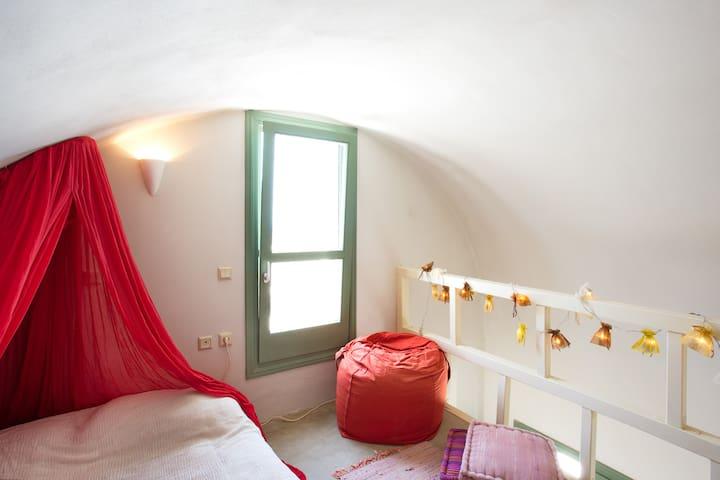 The attic, second bedroom, upper floor