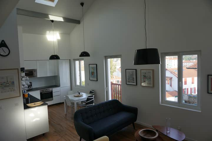 T4 duplex dans maison basque