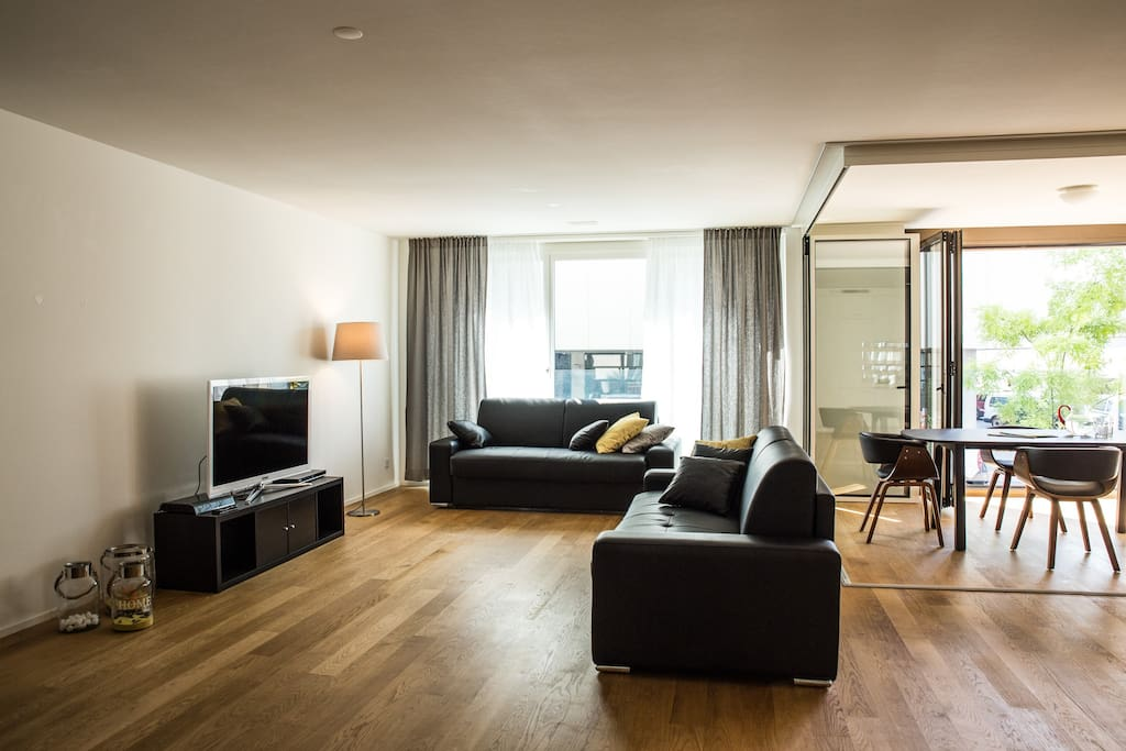livingroom with two pullout sofabed each 140x200cm