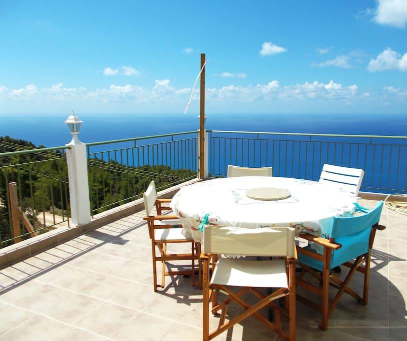 Veranda with fantastic sea view