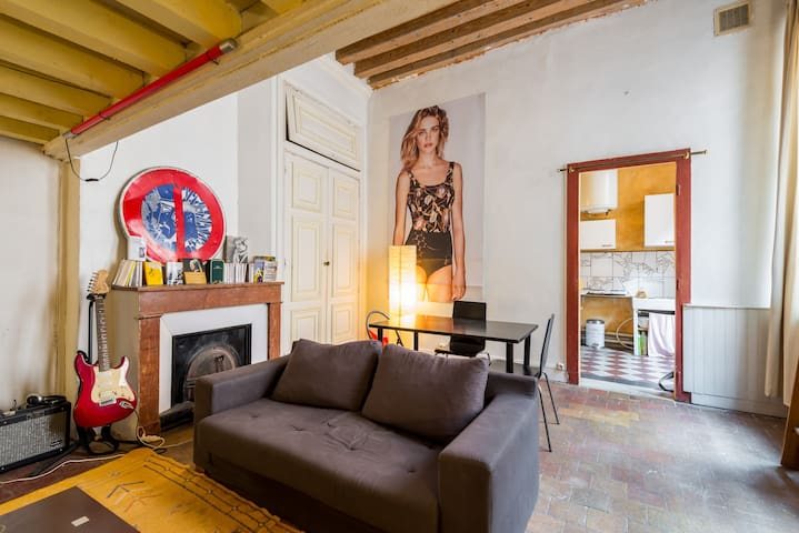 Grand studio chaleureux Lyon 1er - Lione - Appartamento