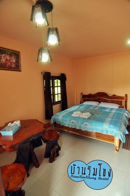 1 Double bed room with Air condition, TV, WiFi and water heater
