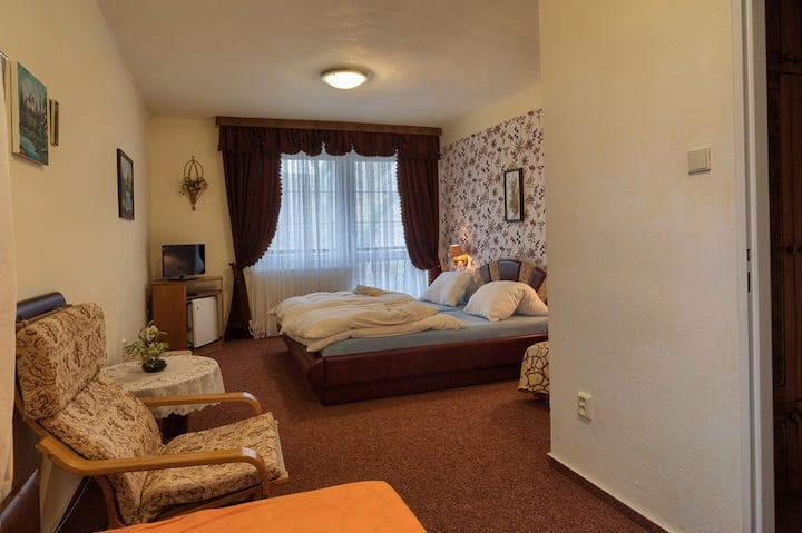 Triple room with double bed, balcony