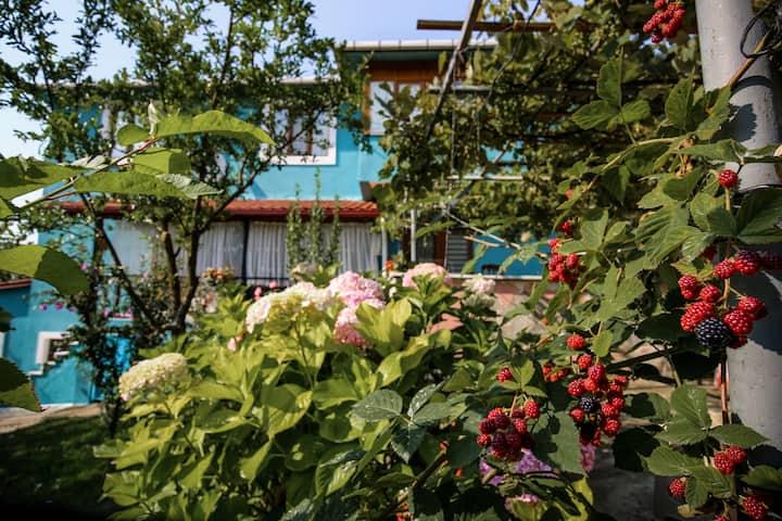 Kartepe'nin eteğinde bahçeli villa dairesi