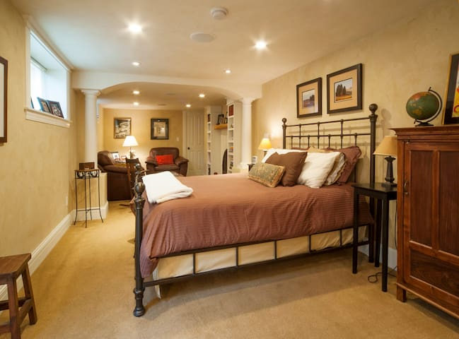 """Welcome to our private guest suite that is within the $1.875M home in which we reside.   Five Star Guest Suite is not a shared space.     """"Loved the bed! Top of the line sheets and pillows. It was clean, quiet & comfortable"""" Cheryl from Boston."""