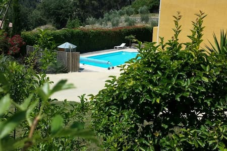 Rez de jardin en provence - Evenos - Rumah