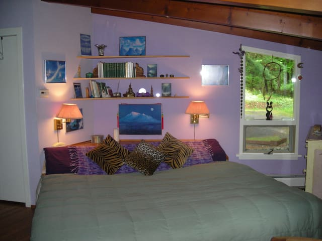 Quiet and cozy bedroom with deck - East Chatham - บ้าน