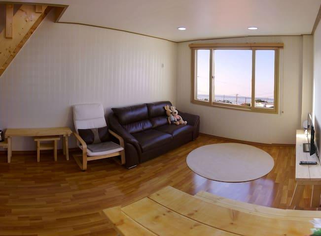 함덕해수욕장 도보2분/제주무지개하우스(복층형) 4인기준