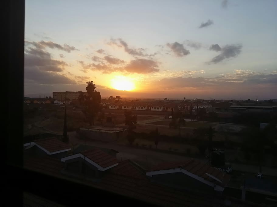 Beautiful sunset views straight from the living room