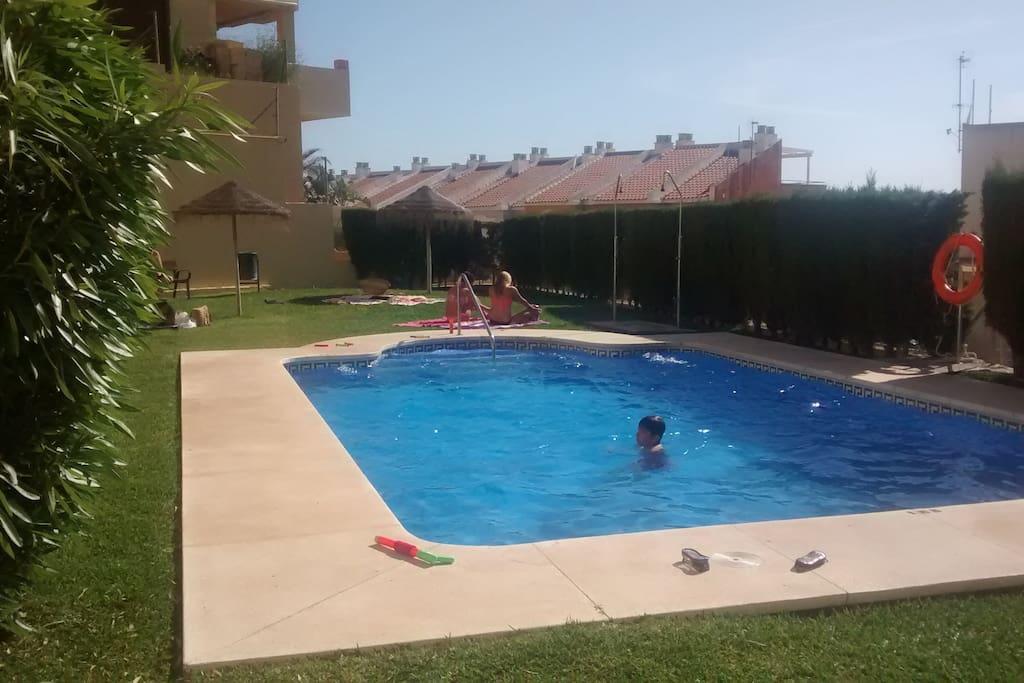 Una de kas dos piscinas