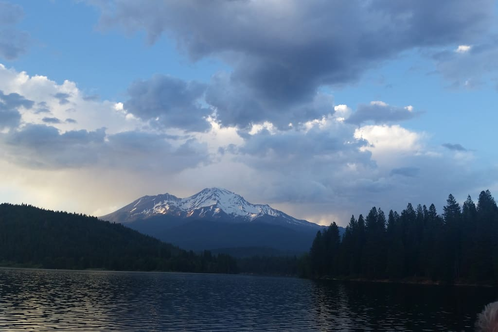 Visit nearby Mt. Shasta for skiing, hiking, swimming fishing etc