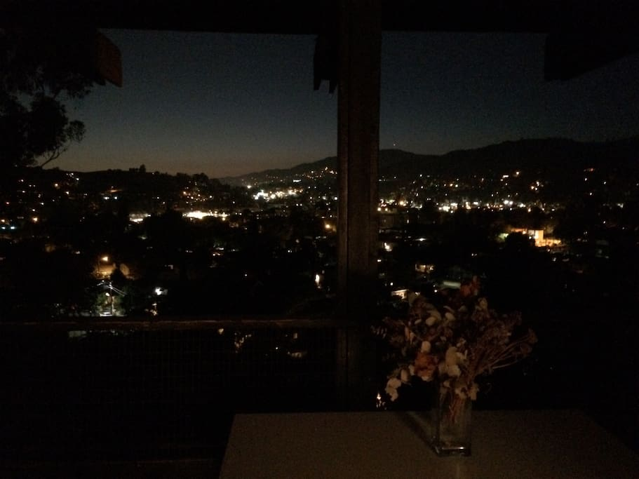 The view by night!