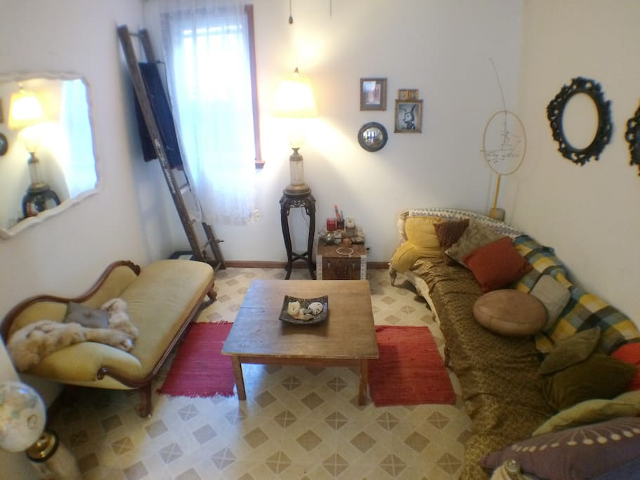 Living room. Plenty of room for guests, board games, relaxation.