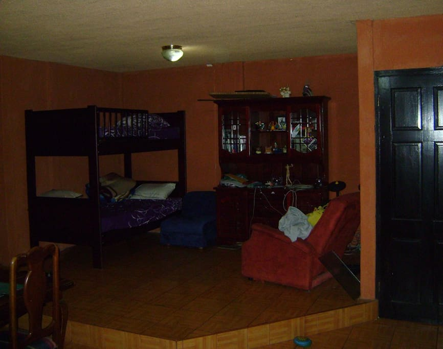 Bunk on the other side of the living room