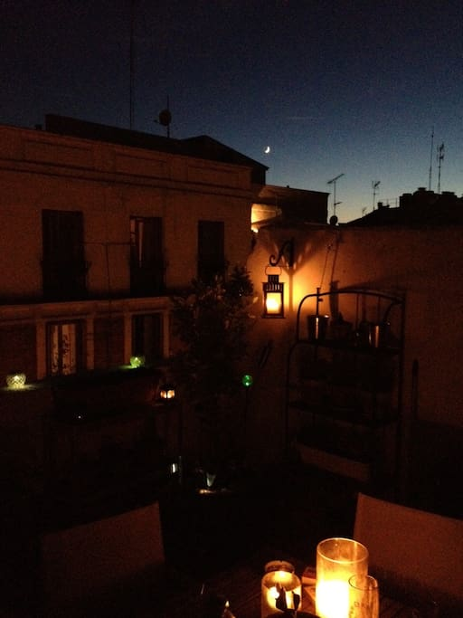 Candle-lit evenings on the terrace in Spring, Summer, and Fall