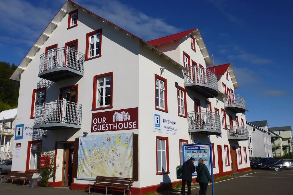 Our Guesthouse  In center of Akureyri Room 6 on first floor (stairs)
