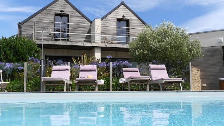 duplex  de charme avec  vue mer et piscine Carnac