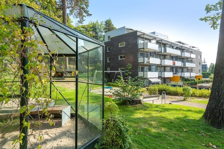 Fresh apartment close to Oslo with large terrace