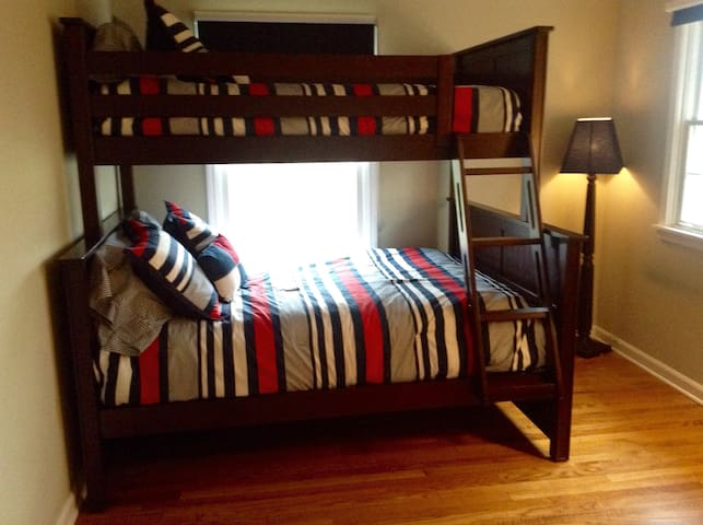 Second Spare bedroom - smaller than other two but nice new (late 2015) bunk bed with full sized bed on bottom (twin on top)