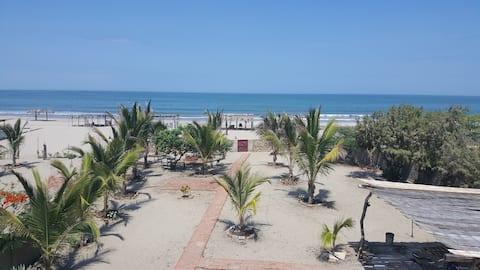 Casa de playa Cahuve, en playa Huacura