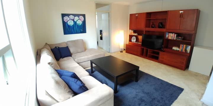 Large, comfy & bright North Sydney 1 bed apartment