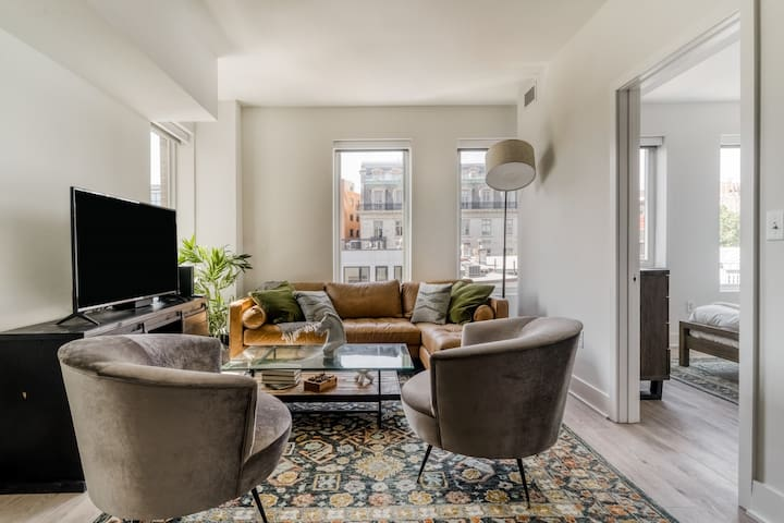 Fresh Dupont Circle 2BR 3mi to Natl Mall + Capitol
