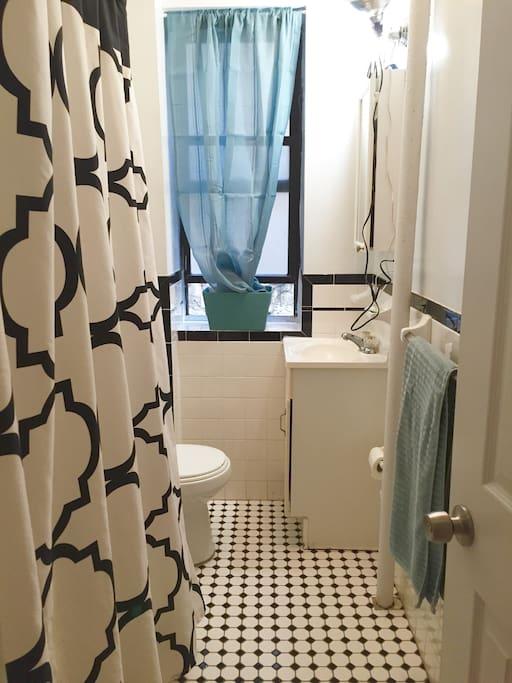 Beautiful Clean Bathroom.
