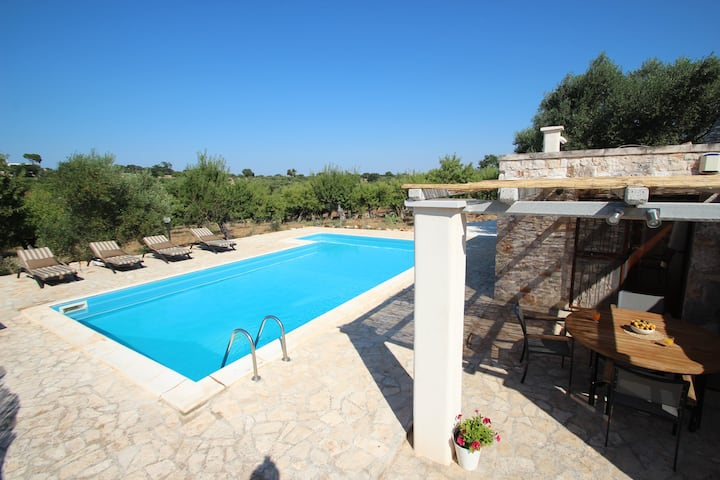 Trullo with private pool sleeps 4