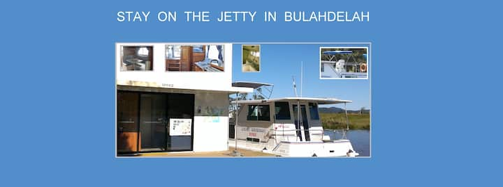 Fully self contained.  Stay on our jetty 1-4 ppl