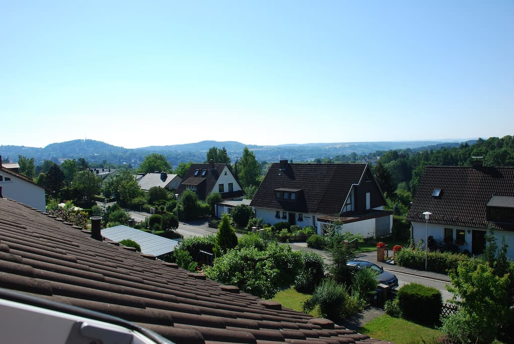 Panoramablick aus Mansardenzimmer