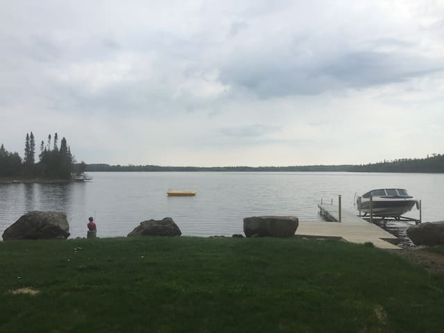 Lake view! The guest camp is less than 5 feet from the beautiful lake