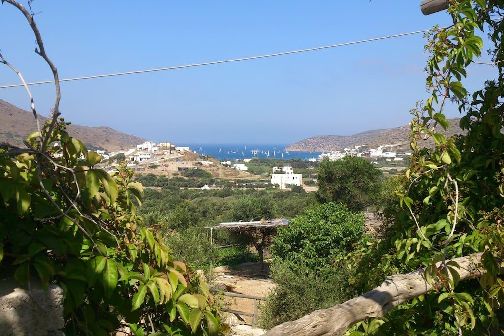 The view to Katapola Bay