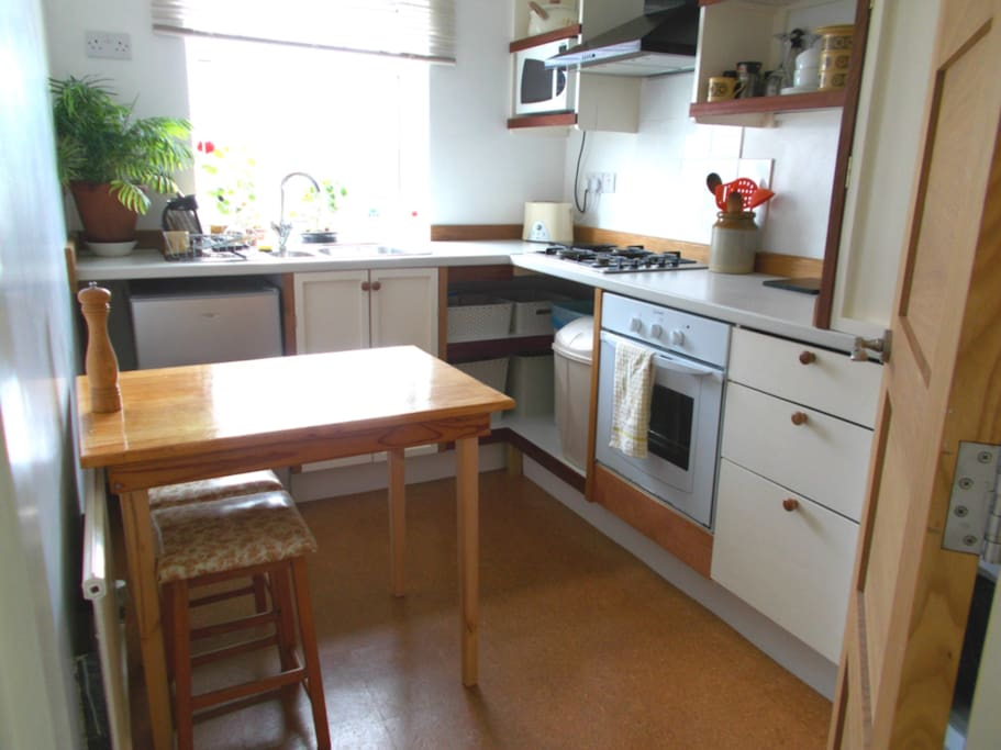 Adjacent private kitchen with full facilities inc ironing