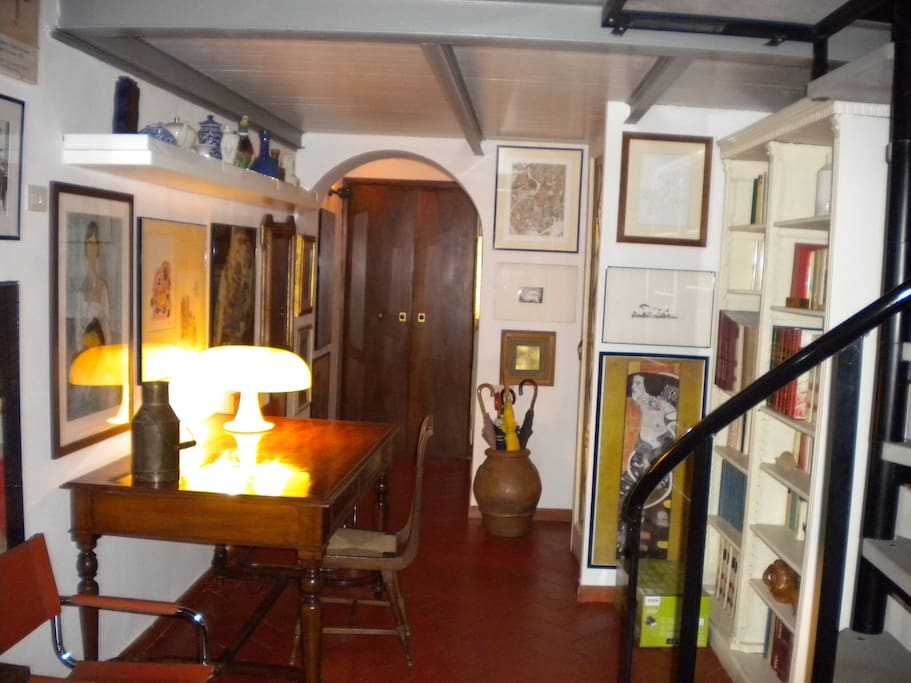 entry and antique table