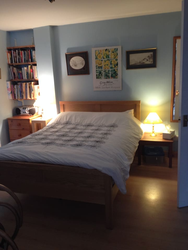 Very comfortable double bed. This is one of three double rooms available.