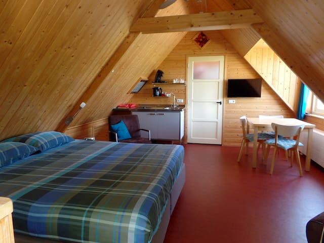 Appartement met uitzicht platteland - It Heidenskip - Apartamento