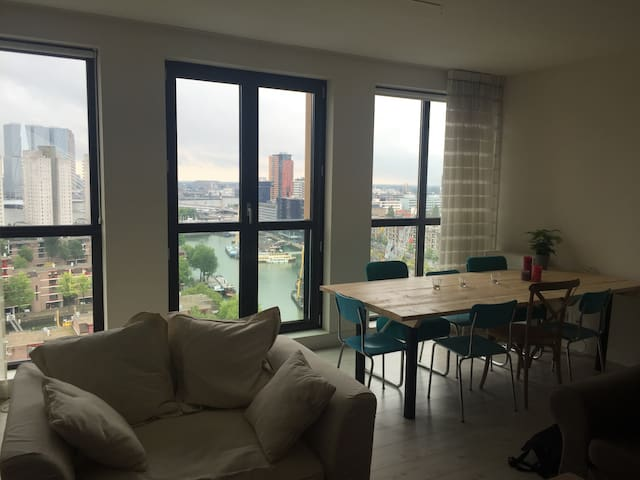 Luxurious apt. with amazing view - Rotterdam - Apartment