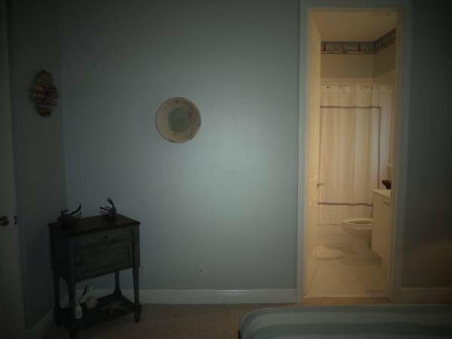 Nautical decor private bedroom