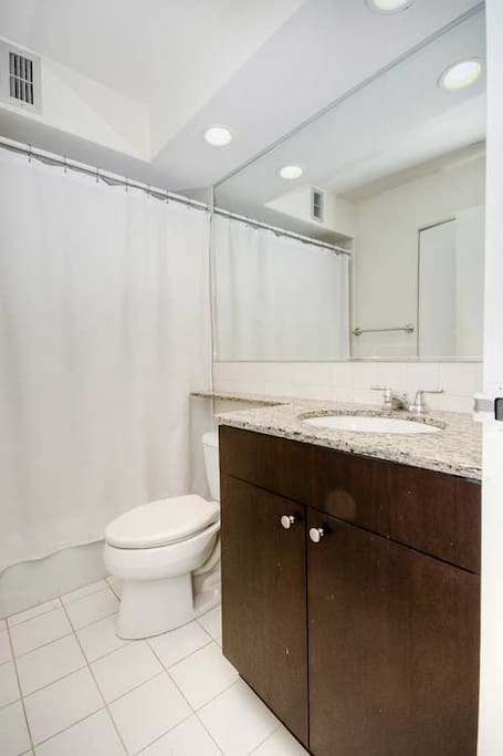 bathroom with a great pressure shower
