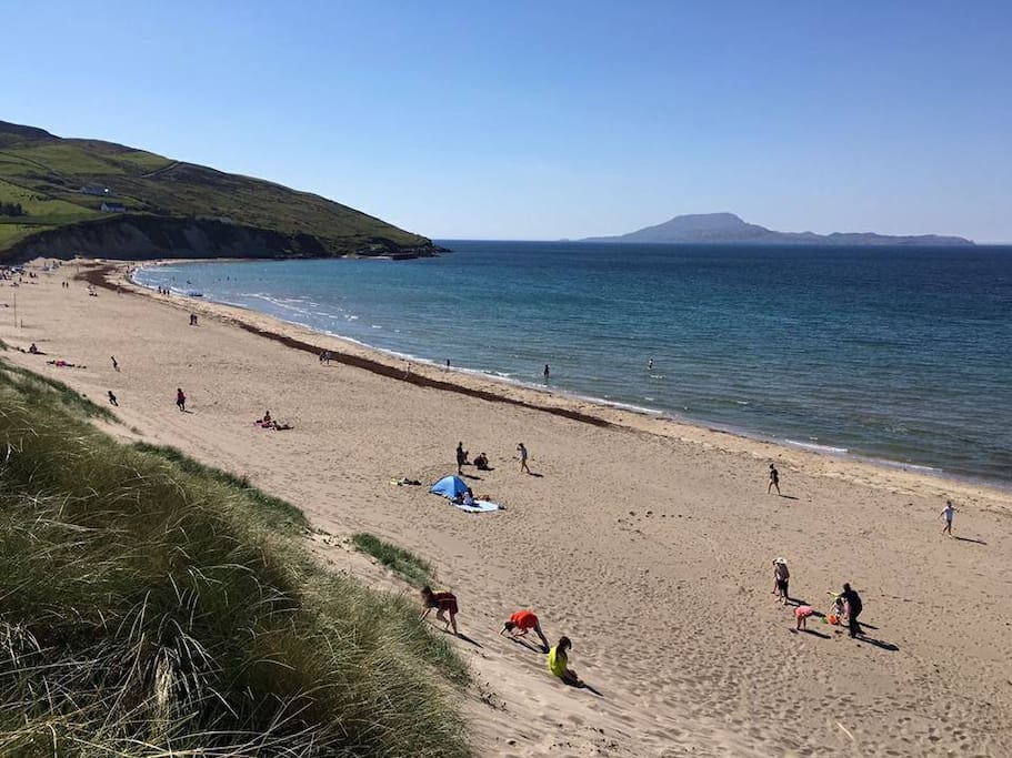 Beautiful Caramore beach is 5 min walk from house. Lifeguard on duty during Summertime.